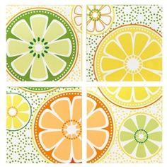 Retro Citrus Wall Art