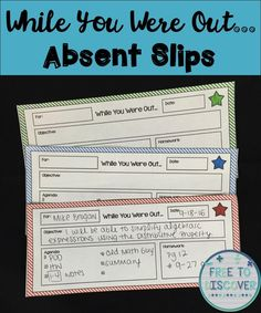 Student absences occur on a regular basis throughout the school year, but it can be so difficult to keep those students (and ourselves!) organized and caught up.  Here are some tips to consider when establishing your own routines for handling absences in