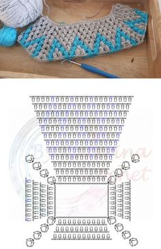 Learn how to crochet a beautiful granny rocks jumper. Use the free video instructions to learn how to crochet striped blankets Top down crochet Col Crochet, Crochet Cardigan Pattern, Crochet Mittens, Crochet Girls, Crochet Jacket, Crochet Diagram, Crochet Chart, Crochet Stitches, Crochet Blouse