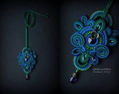 Handmade soutache necklace by Mildossutazas on Etsy