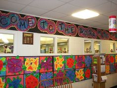 3rd Grade O'Keeffe Flowers by Paintbrush Rocket, via Flickr