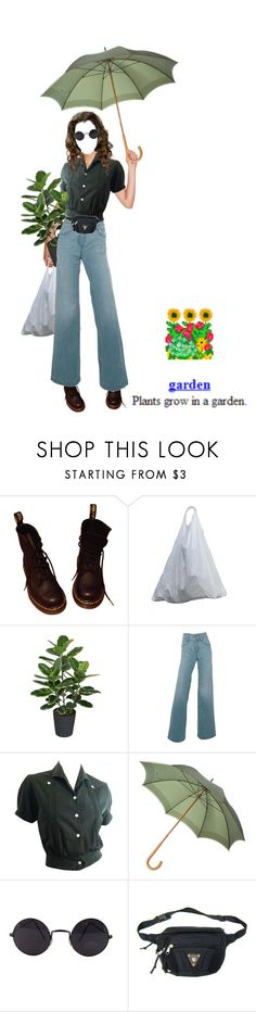 """""""garden"""" by satinthroats ❤ liked on Polyvore featuring Dr. Martens, Northlight Homestore, Del Forte and Fendi"""