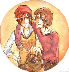 fred and george by myyellow.deviantart.com on @DeviantArt