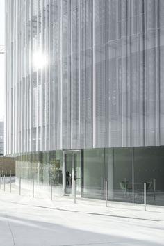Metal Facade, Signage Design, Facade Design, Auditorium Design, Facade Pattern, Small Office Design, Best Bathtubs, New Project Ideas, Glass Structure
