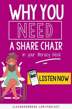 Listen to this brand new podcast all about setting up a share chair in your upper elementary classroom. Learn about the benefits of using a sharing chair with your 3rd, 4th, and 5th grade students like promoting classroom community and listening/speaking skills. A DIY or purchased sharing chair or stool is a great addition to your classroom and students will love using it. Listen today for tips, ideas, and lesson ideas around having a sharing chair in your classroom. Writing Resources, Teaching Writing, Writing Activities, New Vocabulary Words, Vocabulary Practice, Readers Workshop, Writer Workshop, Share Chair, Fifth Grade Writing
