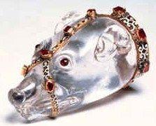 Marten Head, Carved Rock Crystal, Thyssen Collection Zuric. #zibellino