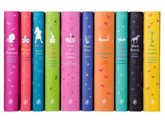 It may be said that you should never judge a book by its cover, but with covers and spines as artful as these the judgment is sure to be a good one. These decorative ten-volume set, lined up on your shelf, creates a colorful display just as enjoyable as reading the classics themselves.