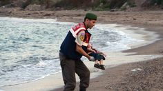 3-year-old Aylan Kurdi was one of at least 12 Syrians who drowned trying to reach the Greek island of Kos http://news.yahoo.com/drowned-syrian-toddler-shocks-europe--highlights-human-cost-of-refugee-crisis-145135288.html