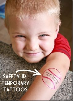 Temporary Tattoos with your Silhouette - Safety ID