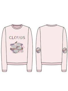 구름 둥실 카모플라쥬 스웨트셔츠