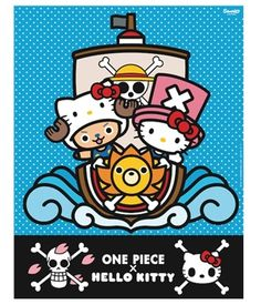 One Piece x Hello Kitty Collaboration Heads to Europe: Sanrio GmbH is teaming up with Toei Animation Europe for a collaboration that involves Hello Kitty and her old friend Chopper from One Piece. A preview image for the upcoming product line shows Chopper dressed up as Kitty, with Kitty wearing Chopper's pink hat.