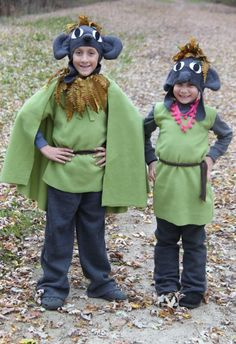 Love these handmade Troll costumes from the movie Frozen!!