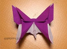 orgami heart crafts   How to Make Origami Butterfly - Step by Step Picture and Video ...