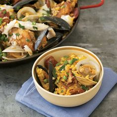 This hearty paella, created by cooking club member David Joud, is brimming with browned chicken, seared squid, spicy chorizo and briny shellfish. For ...