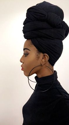 Get tips on how to tie a head wrap like a BOSS here!: http://curlsunderstood.com/?s=headwrap