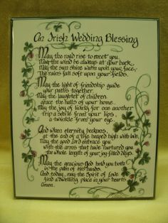 An Irish Wedding Blessing - on the back of the wedding program?