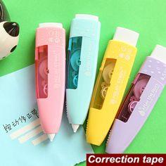 4 pçs/lote novo design cor fita de correção fita corretiva papelaria escola escritório material escolar 6521 em Fita Corretiva de Escritório & material escolar no AliExpress.com | Alibaba Group