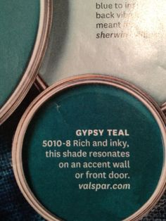 gypsy teal paint by valspar Teal Front Doors, Front Door Colors, Exterior Door Colors, Colored Front Doors, Painted Front Doors, Exterior Paint, Ideas Dormitorios, Color Pallets, My New Room