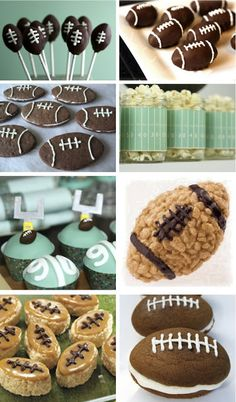 The Best Super Bowl Party Food Ideas for Tailgating During NFL Season Superbowl Desserts, Football Snacks, Fun Desserts, Dessert Recipes, Dessert Food, Football Parties, Football Birthday, Football Banquet, Football Awards