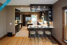 Love this for a small kitchen remodel!
