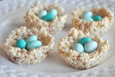 Oh Baby! 25 Super Sweet Baby Shower Desserts via Brit + Co. Easter Birthday Party, Birthday Ideas, Baby Shower Desserts, Easter Recipes, Party Recipes, Party Desserts, Diet Recipes, Bird Nests, Bird Nest Craft
