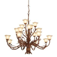 Kalco Ponderosa 20 Light Shaded Chandelier Shade Type: Petite Victorian