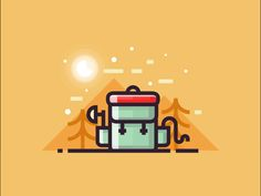 Backpack - motion design by Infographic Paradise