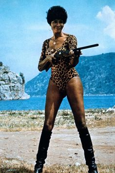 Ajita Wilson, the 1st and only (as we know) Black Trans Cult Film Actress of the blaxploitation era. She also did European Exploitation films always as the starring/lead actress with white actresses. She always played the Queen/Goddess/Most desired woman in the films. Don't forget about her when you celebrate Pam Grier, Judy Pace, Tamara Dobson, Vonetta McGee, and all of the cis black actresses during the same time.