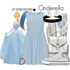 Cinderella + by leslieakay on Polyvore featuring Manon Baptiste, Converse, Disney, Vieste Rosa, Henri Bendel, disney, disneybound and plussize