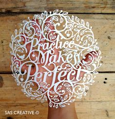 Samantha's Papercuts: Practice Makes Perfect Papercutting Tutorial
