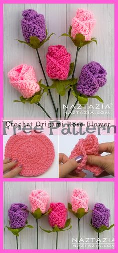Most recent Absolutely Free Crochet Flowers decoration Ideas If you realise exactly how to crochet a blossom, then you can help make a wide variety of projects. Crochet Flower Tutorial, Crochet Flower Patterns, Knitting Patterns, Diy Crochet Flowers, Crochet Ideas, Beau Crochet, Crochet Patron, Crochet Crafts, Crochet Projects