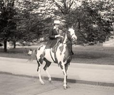 Riding Side Saddle, taken 1915 by Harris and Ewing, from www.old-picture.com