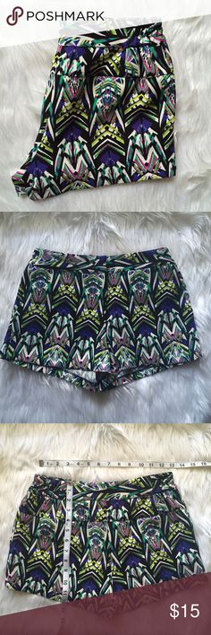 ZOA New York Aztec Black Shorts Condition: Used. No noted defects. • NO TRADES ZOA New York Shorts