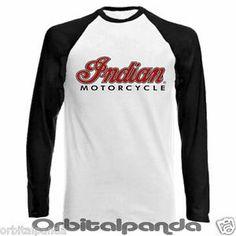 Indian Motorcycle Logo   Long Sleeve Baseball T Shirt with Indian Motorcycle Logo   eBay