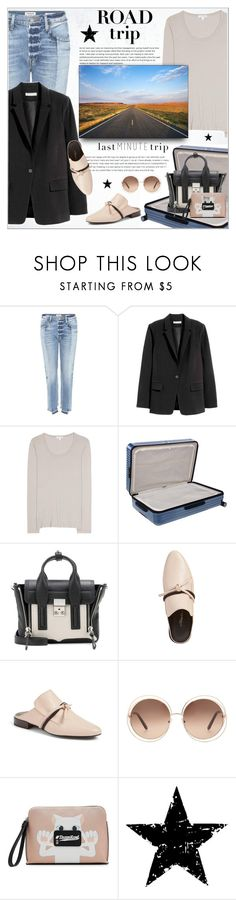 """Rev It Up: Road Trip Style"" by alves-nogueira ❤ liked on Polyvore featuring Frame, James Perse, Rimowa, 3.1 Phillip Lim, Chloé, Karl Lagerfeld, Tim Holtz, roadtrip and polyvoreeditorial"