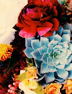 Florals by Kelly Cuadra Via The Jungalow