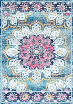 Bosphorus BD59 Withered Bloom In Bouquet Rug