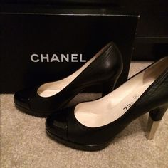 """Spotted while shopping on Poshmark: """"Chanel pumps""""! #poshmark #fashion #shopping #style #CHANEL #Shoes"""