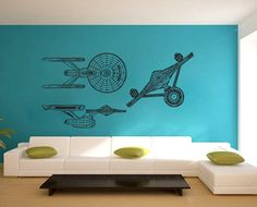 HUGE Star Trek wall decal. At $42.99, reasonably priced enough to be incorporated into a wedding photo booth backdrop or even a geeked out reception lounge!