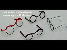 How To Make Wire Glasses For Dolls Amigurumi - YouTube ༺✿ƬⱤღ http://www.pinterest.com/teretegui/✿༻