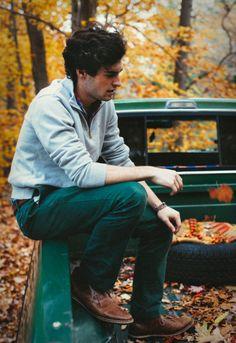 Dave Sarazen Fall by Kiel James Patrick Boys Fall Fashion, Preppy Mens Fashion, Gents Fashion, Autumn Fashion Casual, Stylish Men, Men Casual, Mens Fall, Preppy Style, Preppy Guys