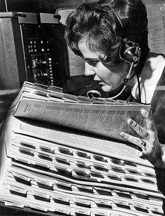 Directory assistance operator, 1970 (via)