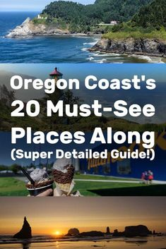 20 Must-See Places Along the Oregon Coast (Super Detailed Guide!) - Trip Memos The Oregon Coast's 20 Must-See Places Along (Super Detailed Guide! Oregon Coast Roadtrip, Oregon Vacation, Oregon Road Trip, West Coast Road Trip, Oregon Trail, Vacation Spots, Road Trips, Portland Oregon, Vacation Ideas