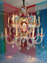 1940's Murano Multi Colored Chandelier at 1stdibs