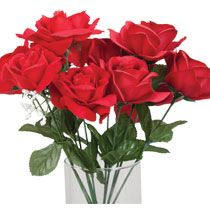 """Bulk 5-Stem Red Velvety Open-Bud Rose Bushes, 14"""" at DollarTree.com"""