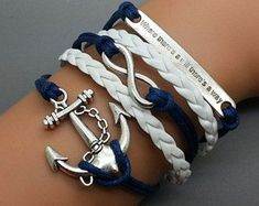 cute anchor bracelets