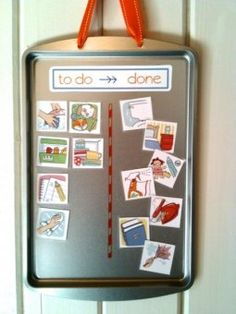I've been looking for good chore chart pictures (since my kids can't read) and LOVE these. Free Printable!