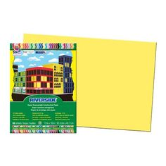 Follow us to http://freecycleusa.com Pacon Riverside Recycled Construction Paper, 76 lb., 12 x 18, Yellow
