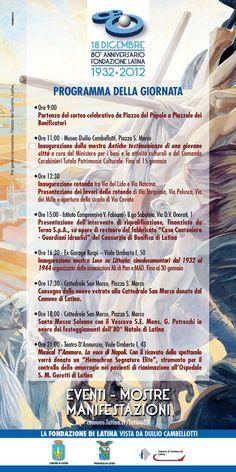 Anniversario Fondazione di Latina, il programma dei festeggiamenti  http://www.parisnews.it/leggiCultura.php?id=112