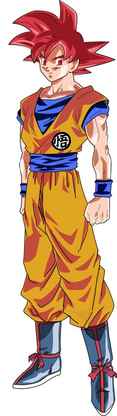 This is Super Saiyan God Goku from Dragonball Z: Battle of Gods.